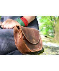 Женская кожаная сумка Babak Etna Cognac 867065 рыжая