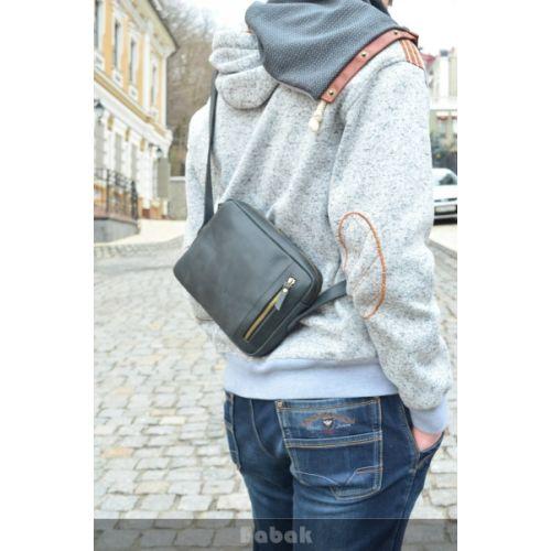 Кожаная сумка 541076 черная