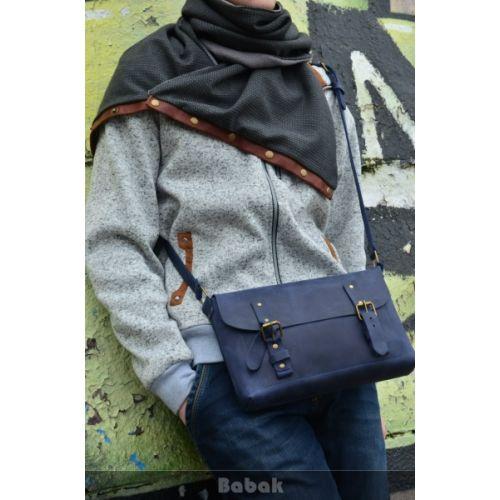 Кожаная сумка Babak Сrossbody 861062 синяя