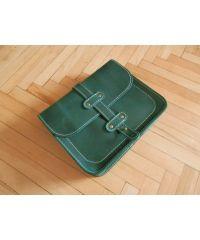 Кожаная сумка 865077 зеленая