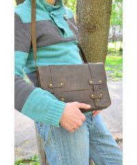 Кожаная сумка 866051 коричневая