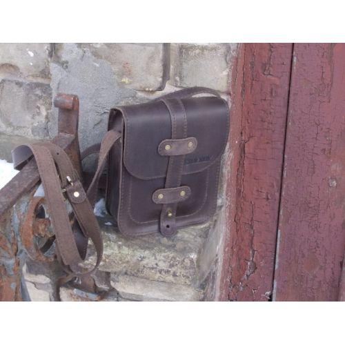 Кожаная сумка 868051 коричневая