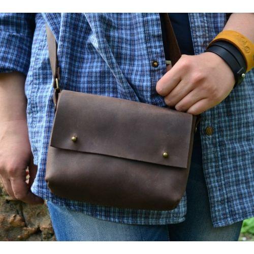 Женский кожаный клатч Babak Kolibri Brown 877051 коричневый