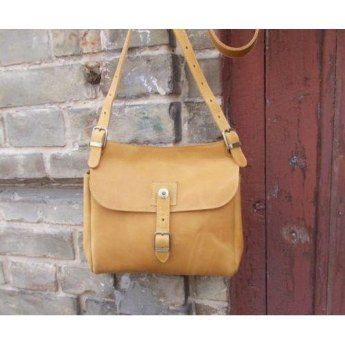 Женская кожаная сумка 859079 желтая
