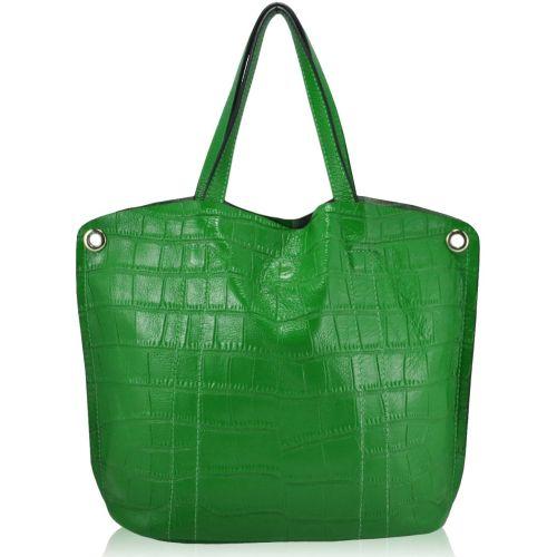 Женская кожаная сумка QE273 зеленая