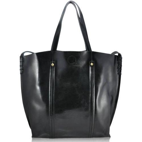 Женская кожаная сумка 8233 черная