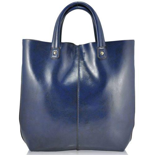 Женская кожаная сумка 8010 синяя
