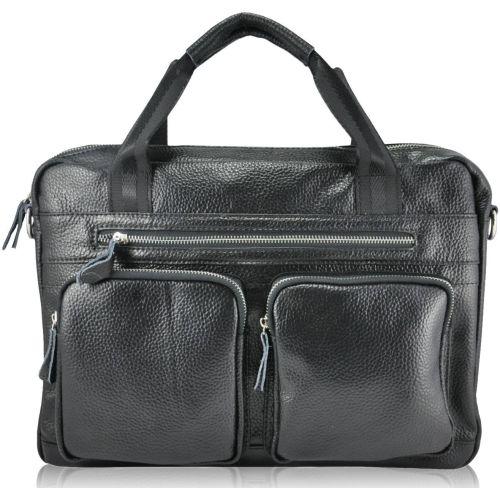 Мужской кожаный портфель 368 черный