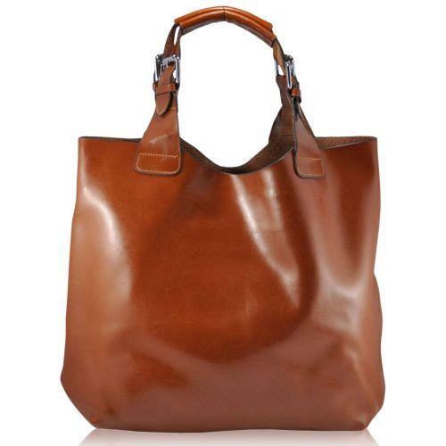 Женская кожаная сумка 811 рыжая