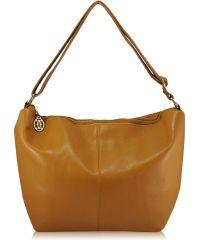 Женская кожаная сумка 3051 желтая