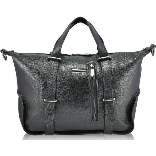 Женская кожаная сумка 11613 черная