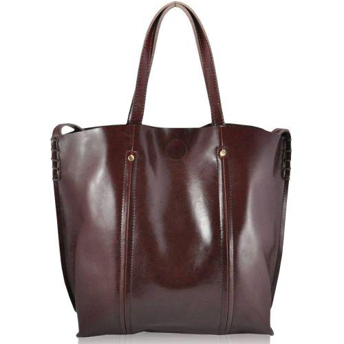 Женская кожаная сумка 8233 коричневая