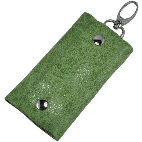 Кожаная ключница 108 зеленая