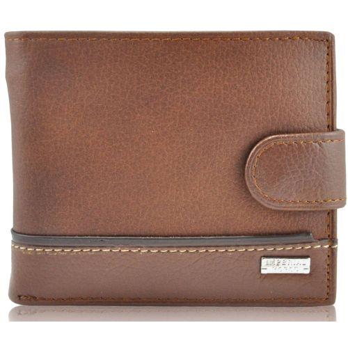 Мужской кожаный кошелек 023B-1 коричневый