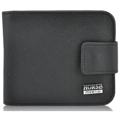 Мужской кожаный кошелек 029 черный