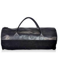 Спортивная кожаная сумка fss-96 черная