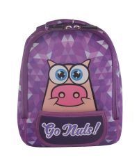 Дошкольный рюкзак KOKONUZZ-GO NUTS со свиньей фиолетовый