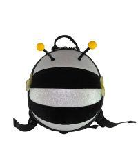 Детский рюкзак SUPERCUTE в виде пчелы черный с серебристым