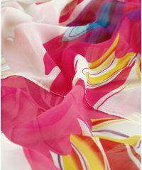 Шаль-парео TRAUM 2497-05 белая с ярким цветком