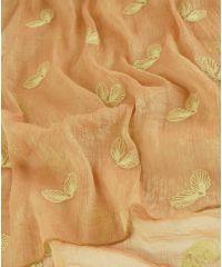Шаль TRAUM 2495-51 терракотовая с вышивкой