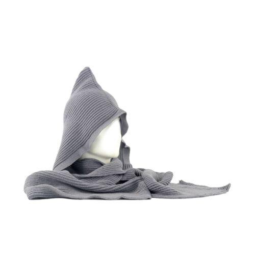 Шарф-капюшон TRAUM 2489-12 серый
