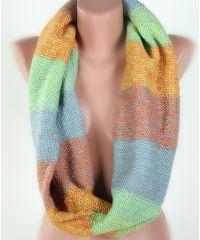 Шарф-снуд TRAUM 2482-02 разноцветный полосатый