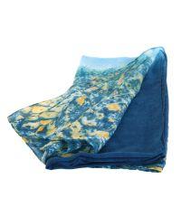 Шарф TRAUM 2495-72 синий в цветы