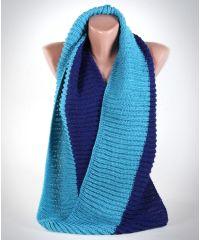 Шарф-снуд TRAUM 2482-12 синий с голубым
