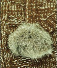 Шарф TRAUM 2483-42 коричневый с мехом
