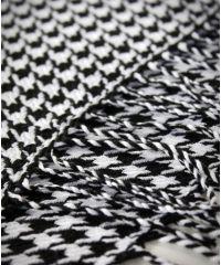 Шарф TRAUM 2493-05 белый с черным