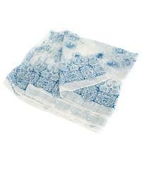 Шарф TRAUM 2494-40 голубой с белым