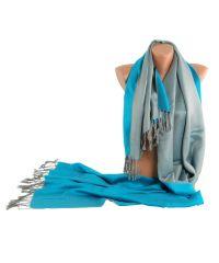 Шарф TRAUM 2494-59 голубой с серым