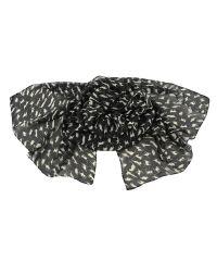 Шарф TRAUM 2495-34 черный с кошечками
