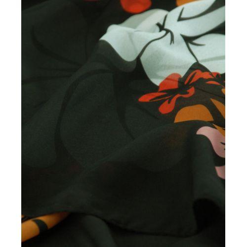 Шаль-парео TRAUM 2497-02 черная с большими цветами