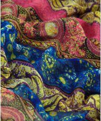 Шаль-парео TRAUM 2498-31 фиолетовая в оранментом