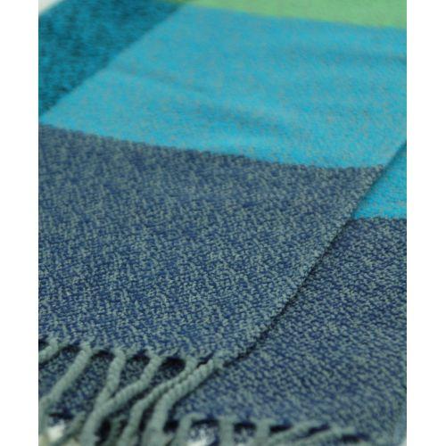 Шарф TRAUM 2493-16 синий в крупную клетку
