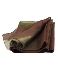 Шарф TRAUM 2495-64 коричневый с золотой полосой