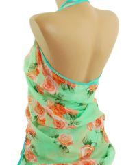 Парео TRAUM 2497-40 салатовое в цветы
