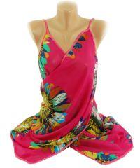 Парео TRAUM 2497-42 малиновое с яркими цветами
