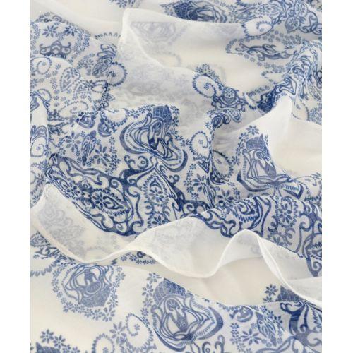 Шарф TRAUM 2495-85 белый с голубым