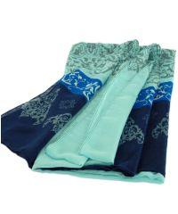 Шаль-парео TRAUM 2498-61 голубая с синим