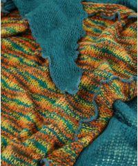 Платок TRAUM 2483-16 синий с разноцветной серединой
