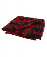 Платок TRAUM 2496-01 черный в красную клетку