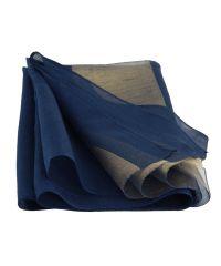 Шарф TRAUM 2495-65 синий с золотой полосой
