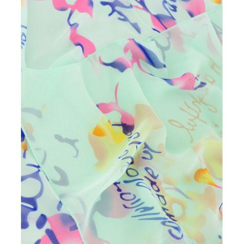 Шарф TRAUM 2495-78 салатовый в цветы