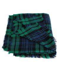 Платок TRAUM 2496-02 зеленый в синюю клетку