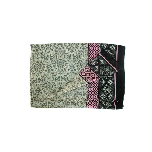 Шаль TRAUM 2494-34 серая с розовым