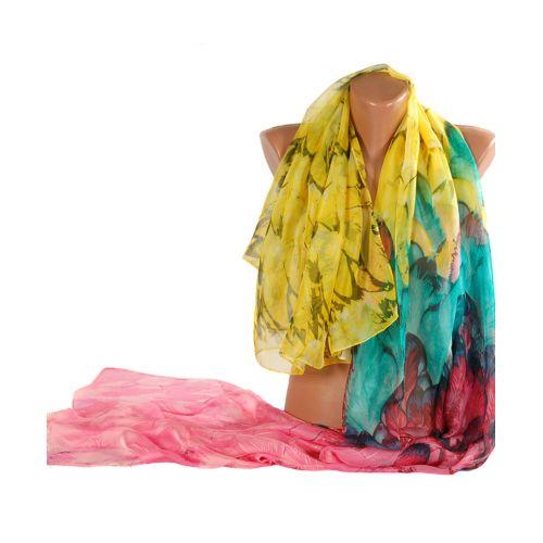 Шаль TRAUM 2495-01 разноцветная в перья