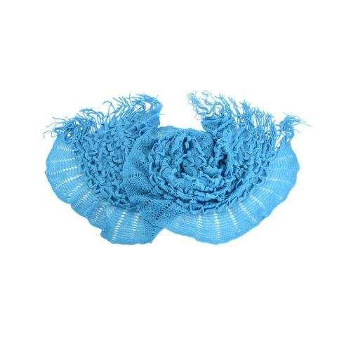 Шарф TRAUM 2483-68 синий вязаный