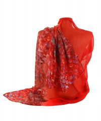 Шарф TRAUM 2495-70 красный в цветочки